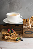 Granola bars for breakfast to go Royalty Free Stock Photography