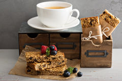 Granola bars for breakfast to go Stock Photography