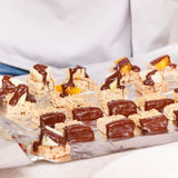 Granola bars with chocolate Stock Image
