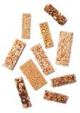 Granola bars isolated on white background Stock Photo