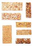 Granola bars isolated on white Royalty Free Stock Photo