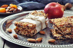 Granola bars Stock Images