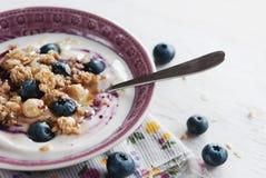 Granola with berry and yogurt Royalty Free Stock Photo