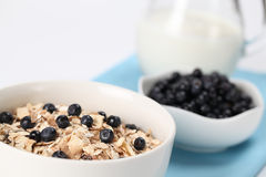 Granola with blueberries Stock Images