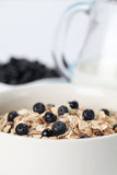 Granola with blueberries Royalty Free Stock Images