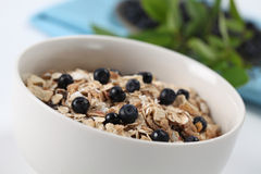 Granola with blueberries Royalty Free Stock Image