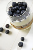 Granola with blueberries Royalty Free Stock Photography