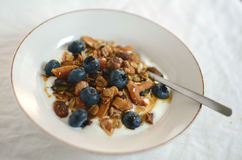 Granola with blueberries and jogurt Stock Photo