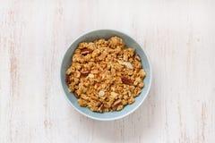 Granola in bowl Royalty Free Stock Photo