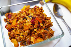 Granola breakfast Royalty Free Stock Photos