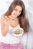 Granola breakfast cereal Stock Photography