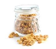 The granola breakfast cereals. Royalty Free Stock Photos