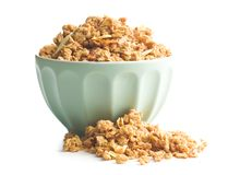 The granola breakfast cereals. Royalty Free Stock Photos