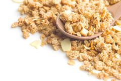 The granola breakfast cereals. Royalty Free Stock Photography