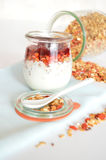 Granola for breakfast. Healthy food and diet. Royalty Free Stock Photography