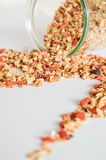 Granola for breakfast. Healthy food and diet. Royalty Free Stock Images