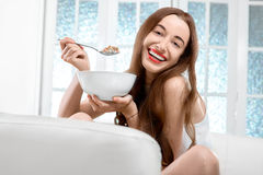Granola breakfast Royalty Free Stock Images
