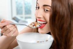 Granola breakfast Stock Image