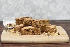Granola Brownies, gezond en eigengemaakt De ruimte van het exemplaar Royalty-vrije Stock Foto's