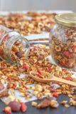 Granola casalingo sano eccellente Fotografia Stock Libera da Diritti