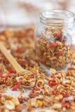Granola casalingo sano eccellente Fotografie Stock Libere da Diritti