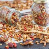 Granola casalingo sano eccellente Fotografia Stock