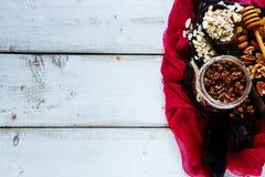 Granola caseiro do chocolate fotografia de stock
