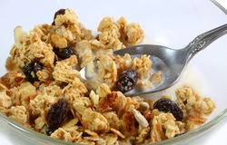 Granola cereal Royalty Free Stock Images