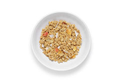 Granola cereal in bowl Royalty Free Stock Photo
