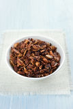 Granola cereal in bowl Royalty Free Stock Images