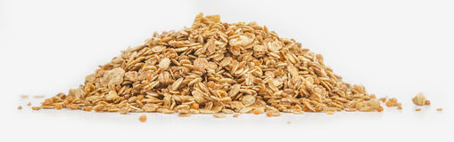 Granola cereal isolated on white backgroung. Granola cereal with dried frutis and nuts isolated on white backgroung Stock Images