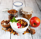 Granola cereal with nuts Royalty Free Stock Photography