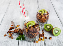 Granola cereal with nuts Stock Image
