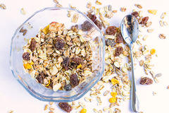 Granola cereal with raisins and nuts Stock Image