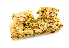 Granola chewy bar. Fruit and nut granola chewy bar Stock Images