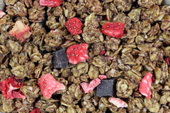 Granola Chocolate Berries up Close Royalty Free Stock Images