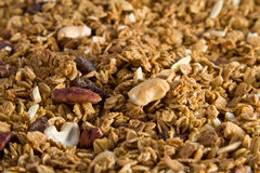 Granola. A closeup view of Granola cereals royalty free stock photography