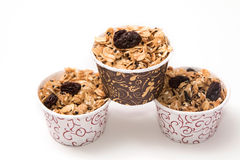 Granola in cupcake cases Royalty Free Stock Photo