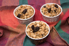 Granola in cupcake cases Royalty Free Stock Image