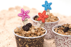 Granola in cupcake cases Stock Photography
