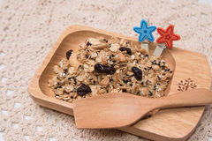 Granola in cupcake cases Stock Images