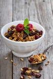 Granola del chocolate para el desayuno Imagen de archivo libre de regalías