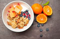 Granola del desayuno Fotos de archivo