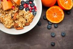 Granola del desayuno Fotografía de archivo libre de regalías