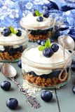 Granola desserts stock photos