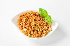 Granola with dried apples Stock Photography