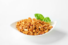 Granola with dried apples Royalty Free Stock Images