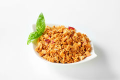 Granola with dried apples Royalty Free Stock Photography