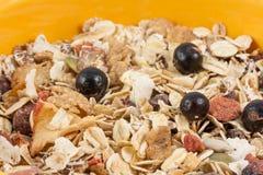 Granola in een kom Stock Fotografie