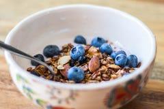 Granola et yaourt Photos libres de droits